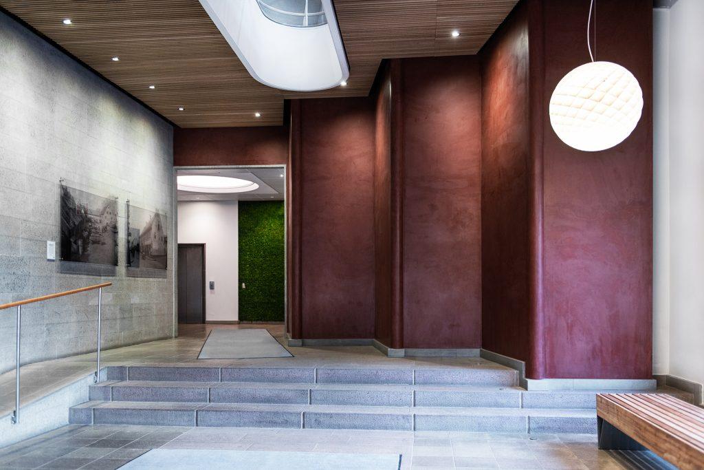 Entrance of NMA office at Sveavägen 63